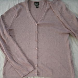 Eileen Fisher Cardigan Purple Buttons Small